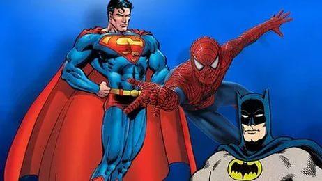 Супермен, Спайдермена, Бэтмен