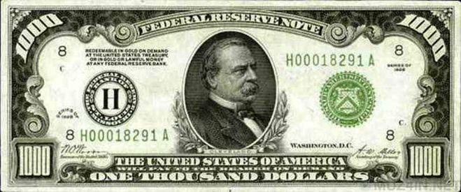 1000 долларов США 1890 года