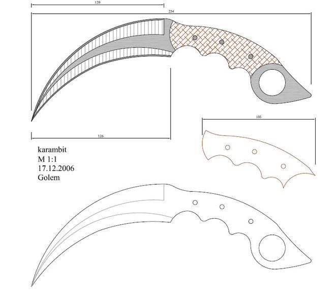 Как сделать нож керамбит из бумаги фото 253