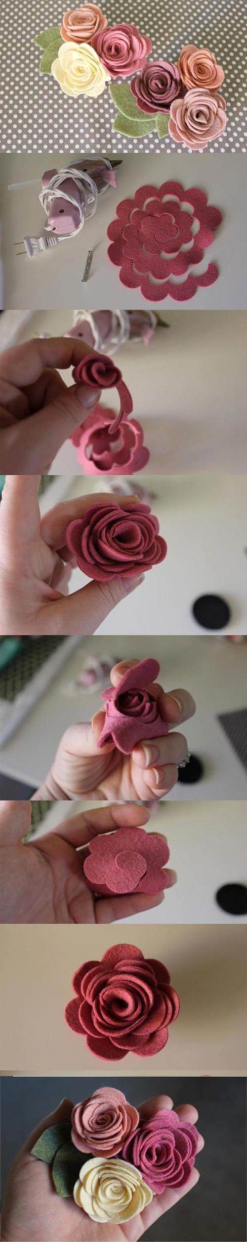 роза из фетра своими руками