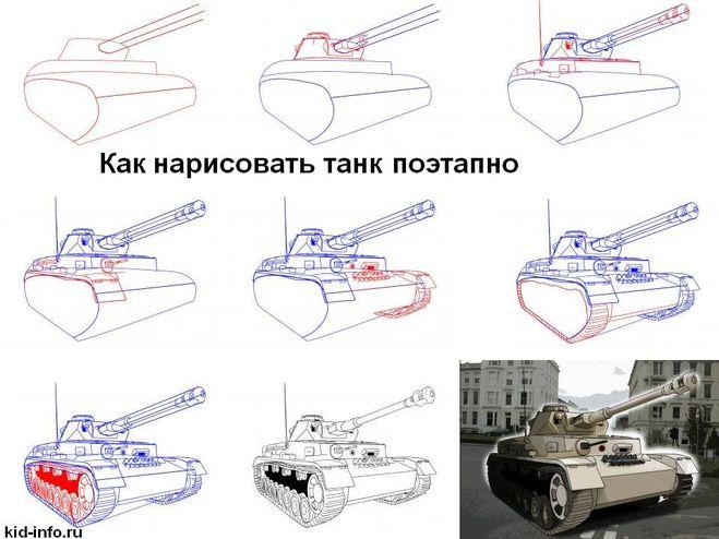 Как сделать танк поэтапно