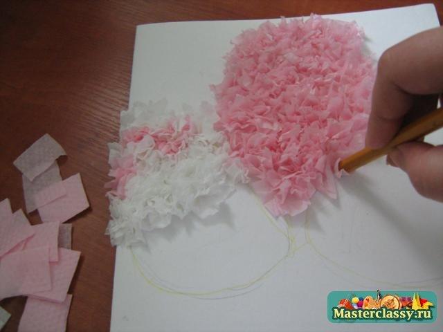Как сделать сирень из гофрированной бумаги пошагово