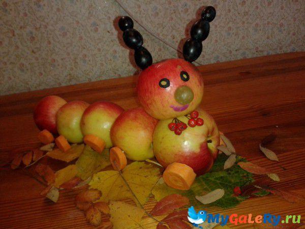 Гусеница из картошки поделка фото 84