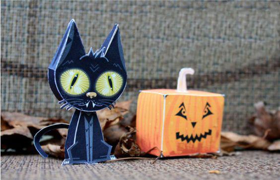 игрушка на Хэллоуин из бумаги паперкрафт