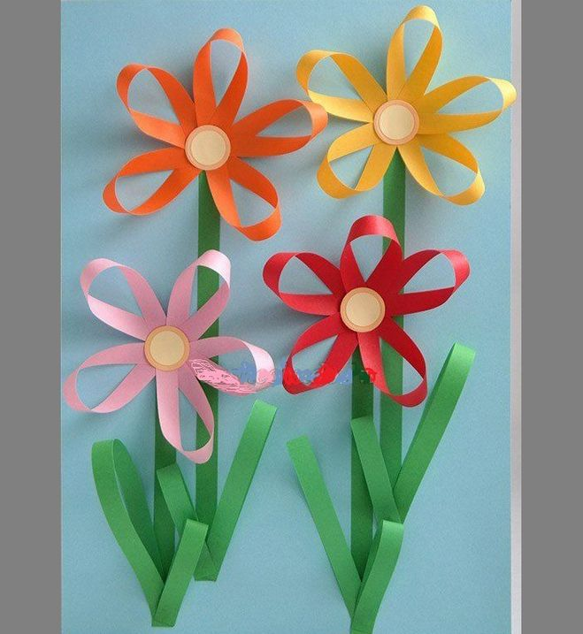 Аппликации из цветов
