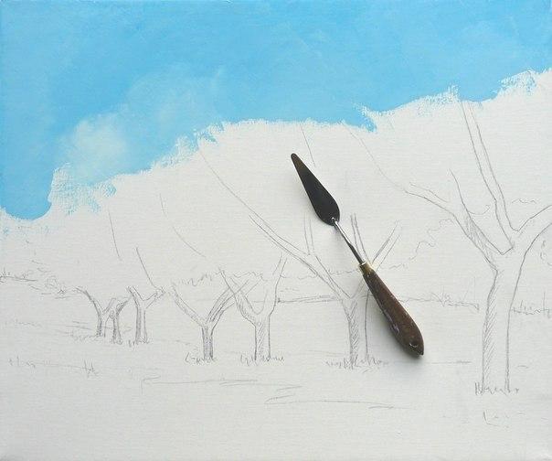 Кроны деревьев рисовать