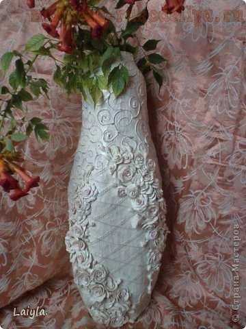 Напольная пластиковая ваза своими руками