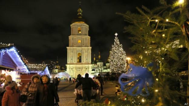 Как отмечают новый год в украина