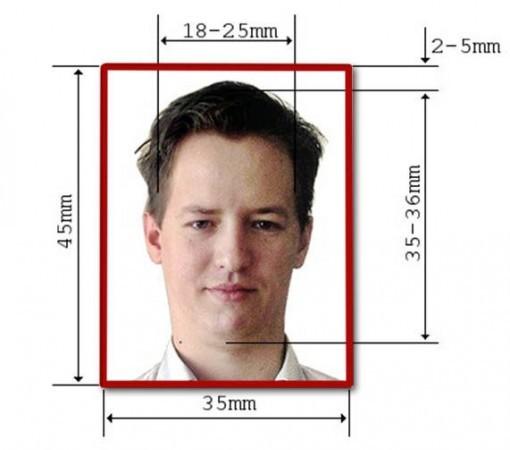 Как сделать фотографию размером 35х45 мм