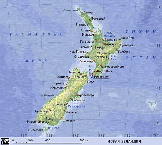 Где находится остров зеландия на карте
