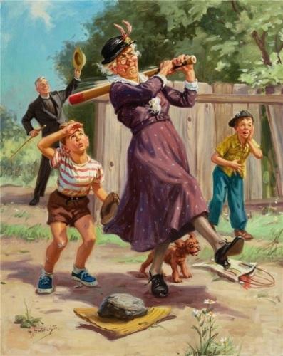 Бабушка с битой