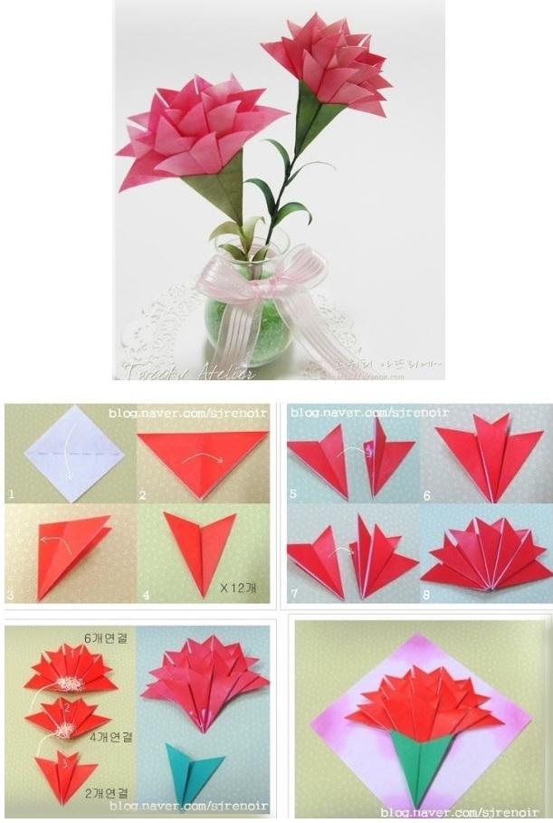 Делать цветы из бумаги поэтапно