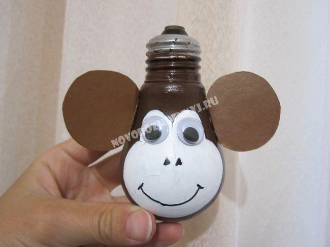 Елочные игрушки своими руками год обезьяны