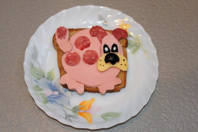 бутерброды на новый год собаки