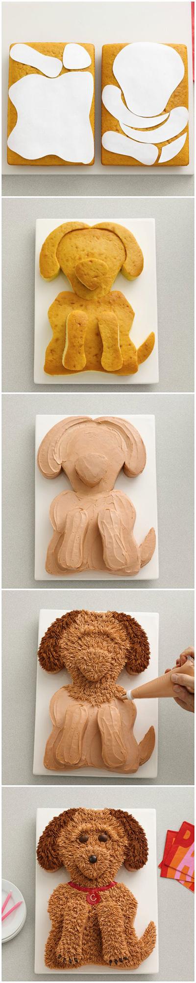 съедобный торт-собака для украшения