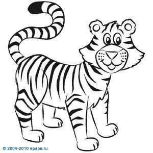 Тигрята поэтапно