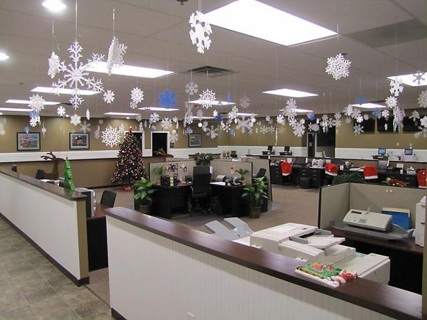 Украшаем офис новый 2015 год своими руками