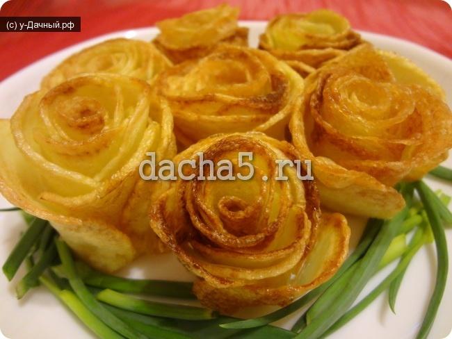Розочки из картошки в духовке пошагово