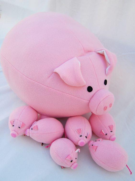 свинья из флиса своими руками