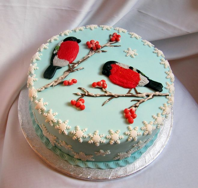 Как украсить торт в новый год