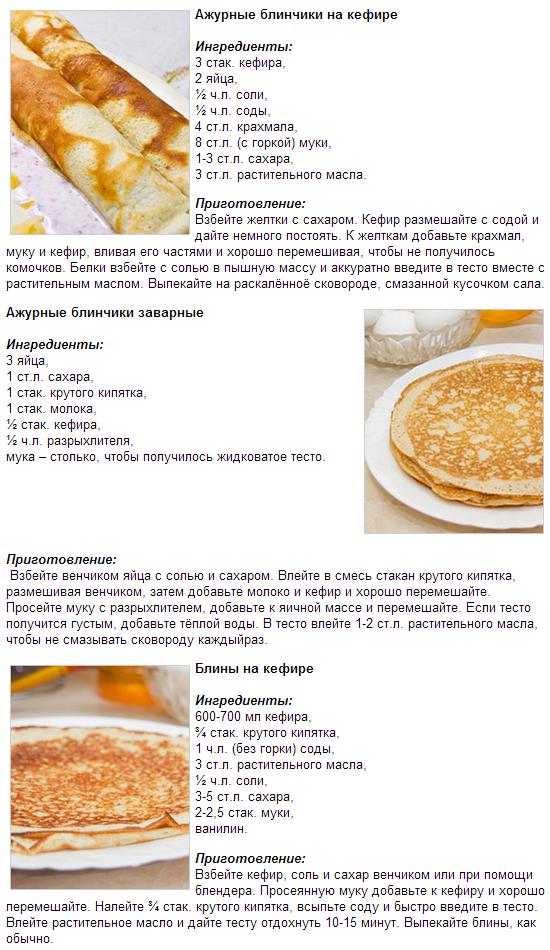 Блины ажурные на молоке и кефире рецепт с фото