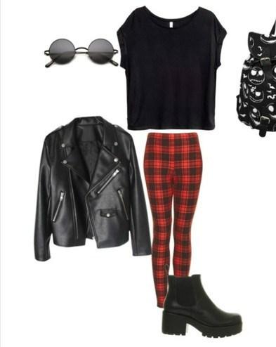 Пример одежды в стиле рок