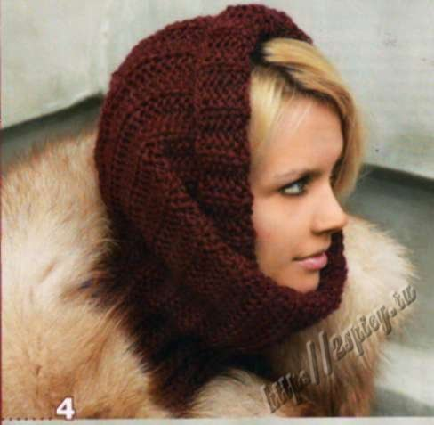 Как носить шарф снуд картинки
