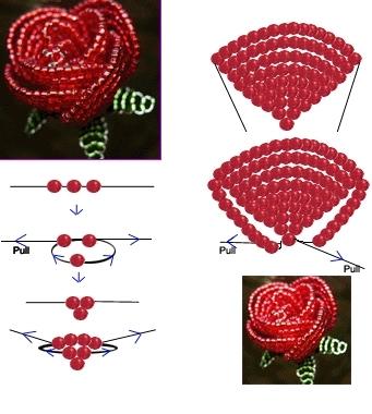 из бисера,схема плетения.
