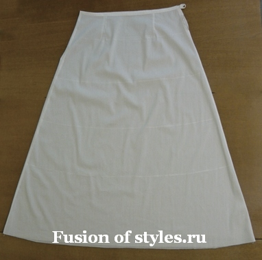 Как сшить подъюбник прямой для юбки