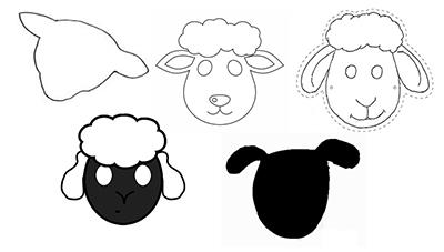 шаблон для овечки
