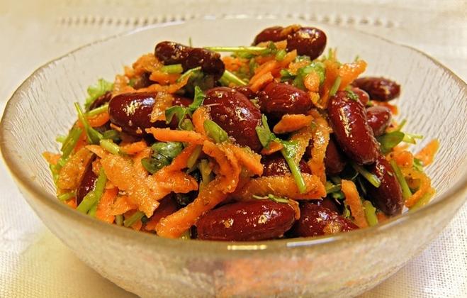 Фоторецепт салат фасоль