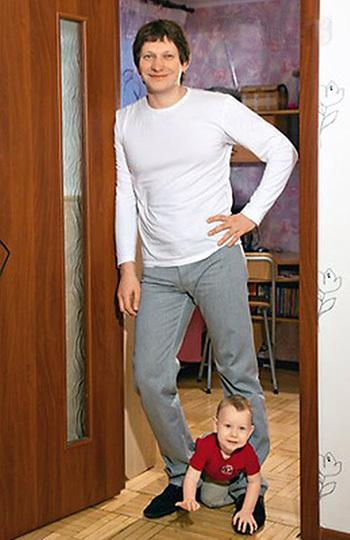 Олег Андреев с сыном