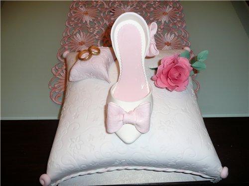 туфелька из мастики