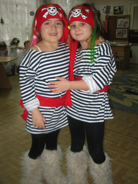 Костюмы пирата для девочек своими руками