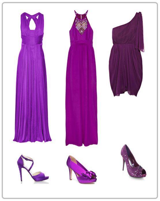 Туфли к лиловому платью