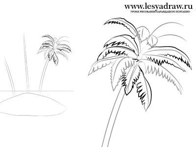 как нарисовать морской пейзаж