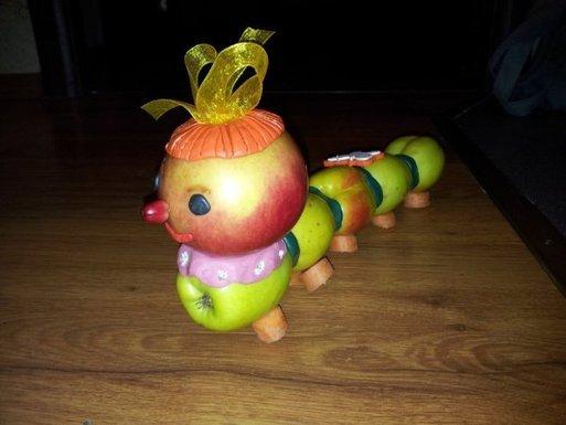 Как делать детские поделки из овощей и фруктов8