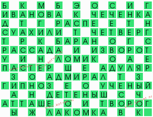 Вид сыпи 6 букв ответы
