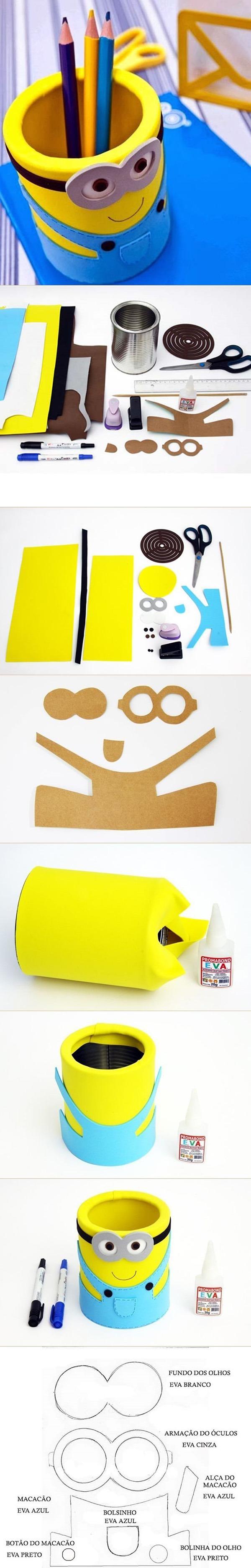 Как сделать из бумаги миньона
