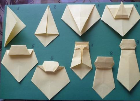 Как сделать галстук оригами фото 761