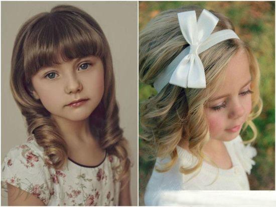 Короткие волосы прическа на выпускной девочке