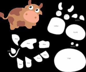 корова из фоамирана шаблон выкройка