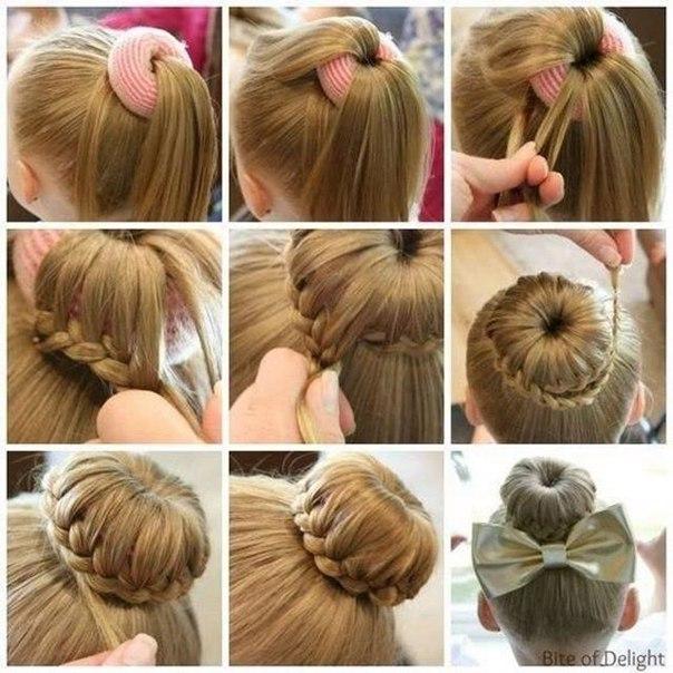 Как сделать причёску для девочки в домашних условиях