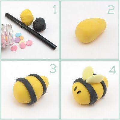 Поделка из пластилина пчела