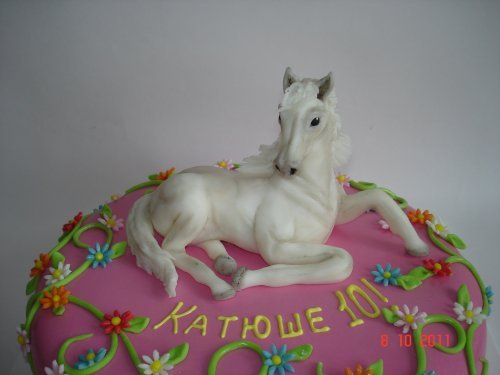 Торт с лошадкой фото