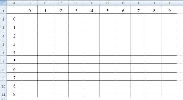 Как сделать таблицу квадратов в excel фото 338