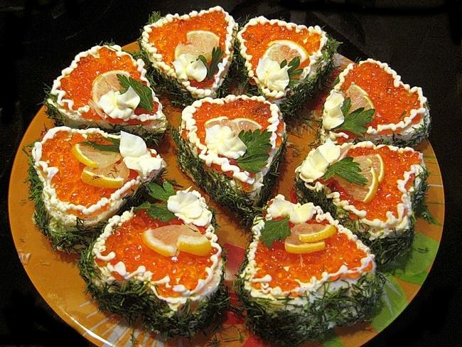 Канапе на праздничный стол рецепты с красной рыбой