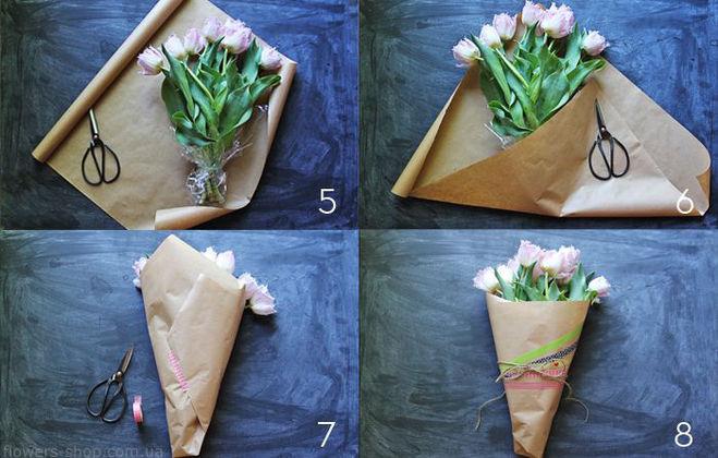 Как красиво упаковать букет