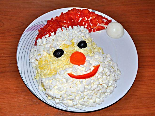 Рецепты салата дед мороз с