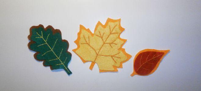 Мастер-класс осенние листья из фетра
